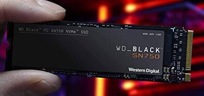Western Digital WDS100T3X0C, SSD SN750 Gaming NVMe 1 TB, Zwart