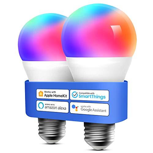 2 stuks slimme LED E27 lampen (werkt met Alexa, Apple Homekit, Siri & Google Home) voor €21,99 @ Amazon DE