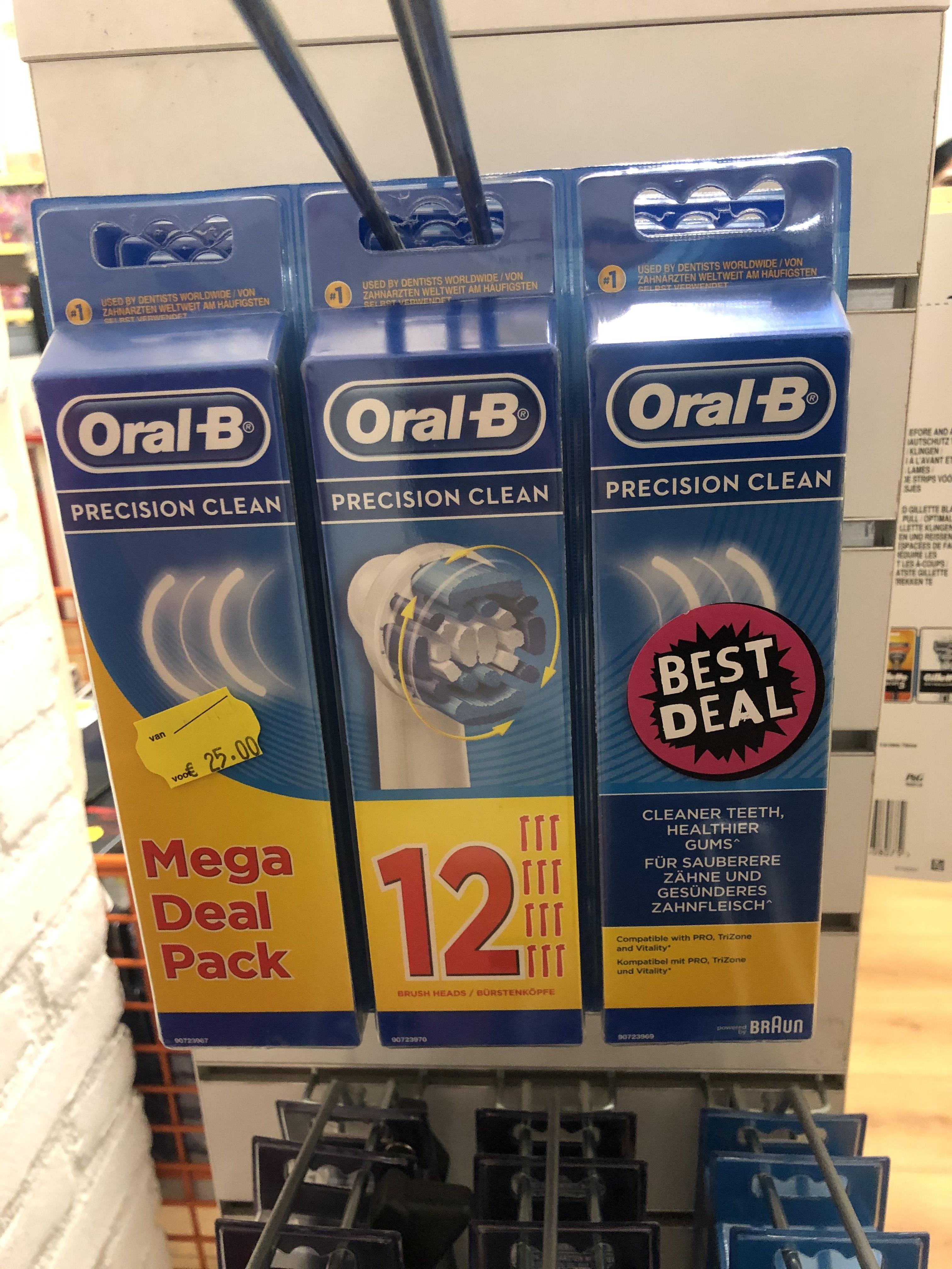 Lokaal! Oral-B Precision clean opzetborstels 12 stuks, 12,50 euro @Prijsmepper Tilburg