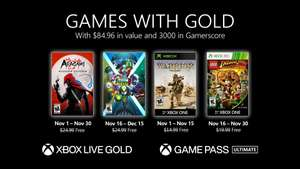 Games With Gold voor Xbox - November 2020