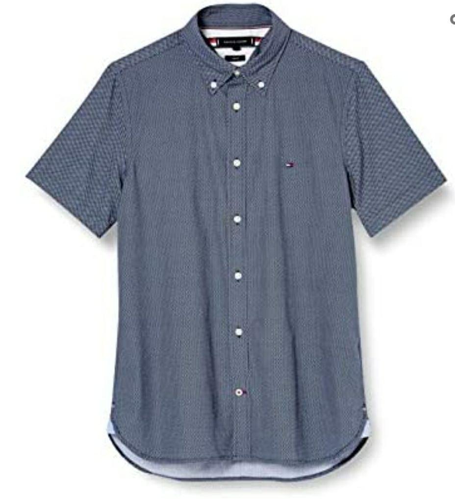 Tommy Hilfiger Heren Slim Essential Print Shirt S/S