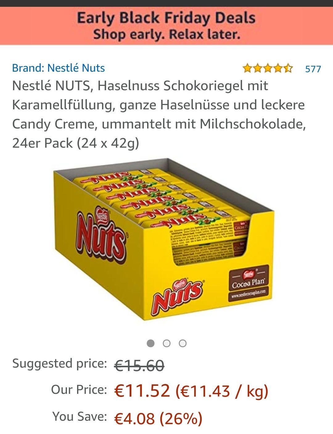 Ook verslaafd aan Nuts ? 24 x 48 gram.