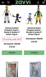 Diamond Select Kingdom Hearts Action Figures