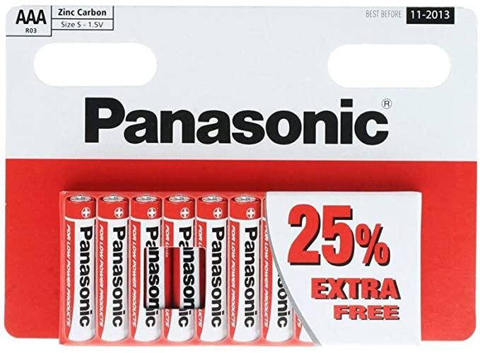 Panasonic 10 AAA batterijen