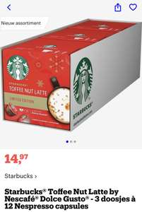 "Starbucks Toffee Nut Latte ""Limited Edition"""