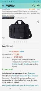 Lifewit Men's Laptop Bag 17.3 Inch @Amazon.de