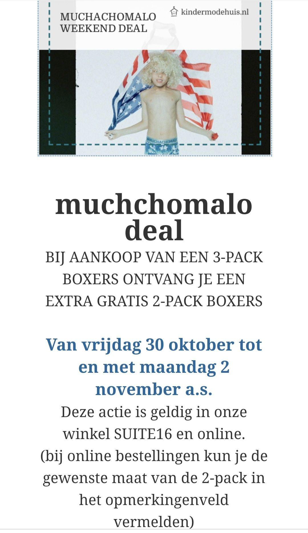 Muchachomalo kids boxers 3+2 gratis