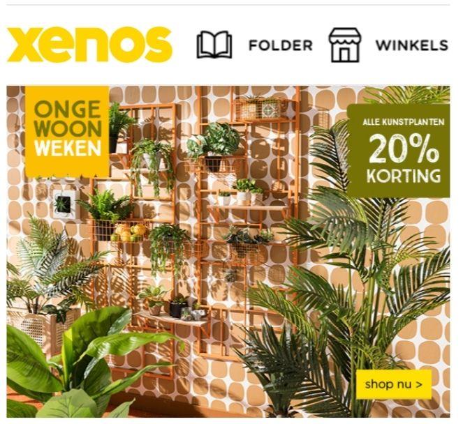 Xenos 20% korting op kunstplanten