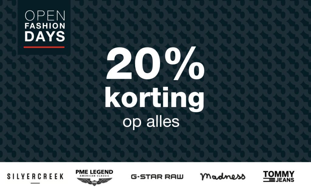 OPEN Fashion Days: 20% korting op alles @Open32