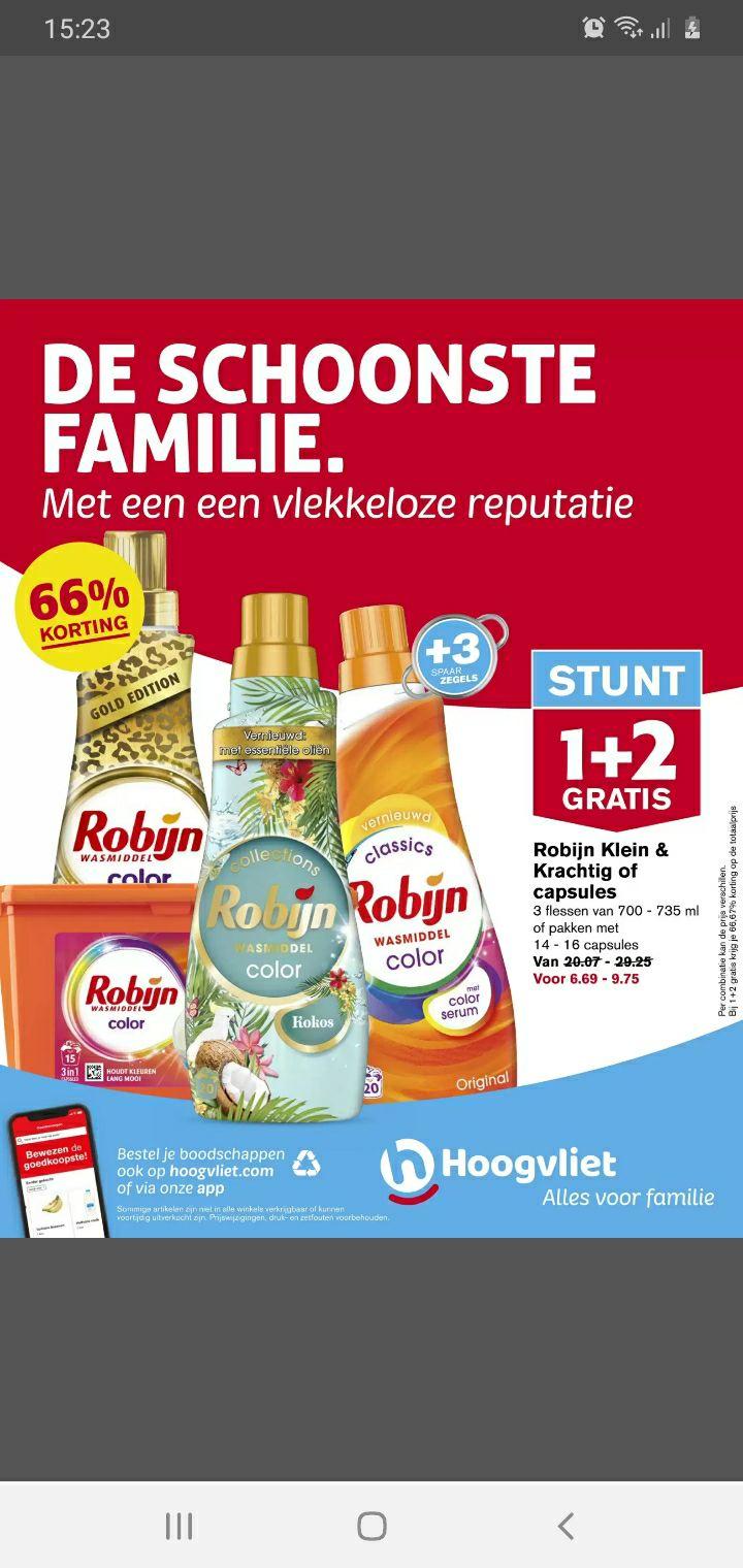 Robijn 1 + 2 gratis Hoogvliet