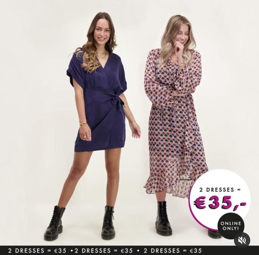 Twee jurken naar keuze voor 35