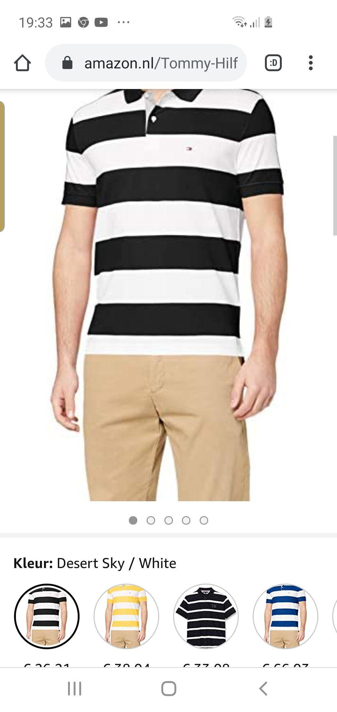 [Nu €22,19] Tommy Hilfiger Heren Block Stripe Regular Polo Shirt