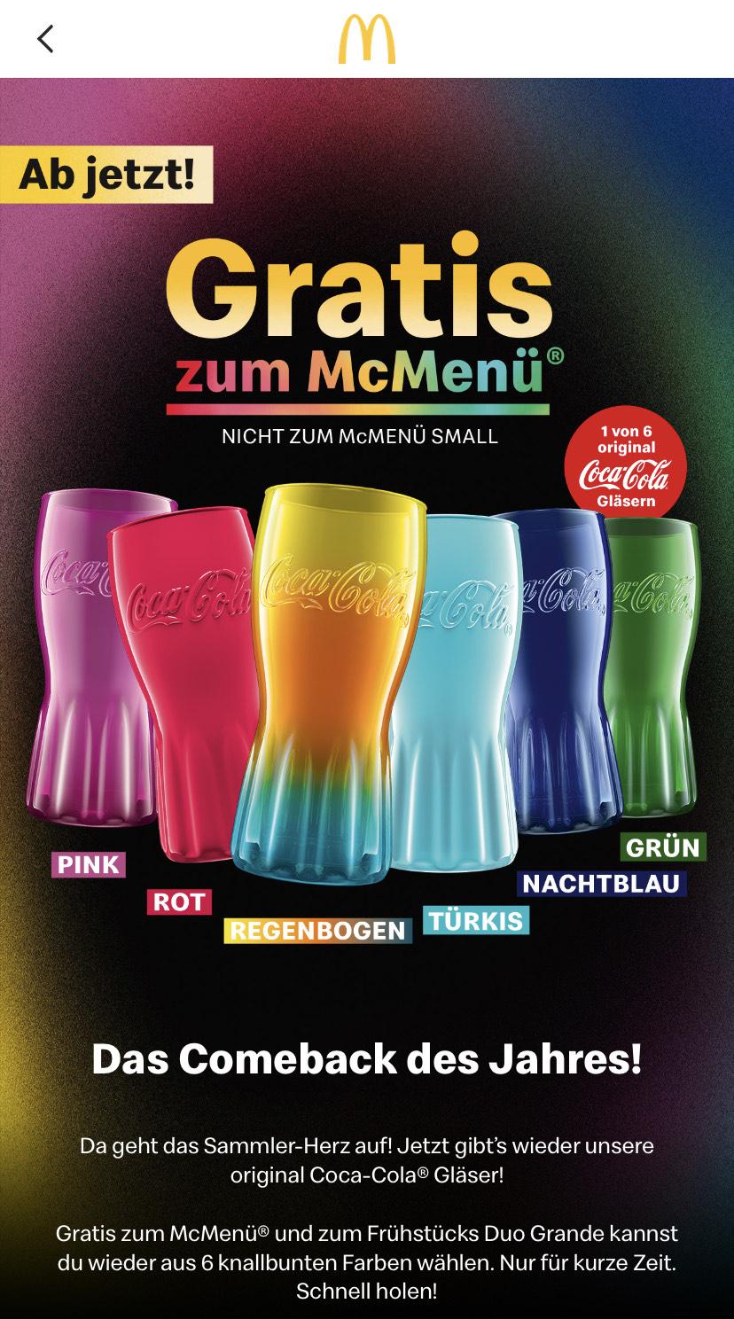 [GRENSDEAL] Bij een McMenu een Coca-Cola glas Duitsland