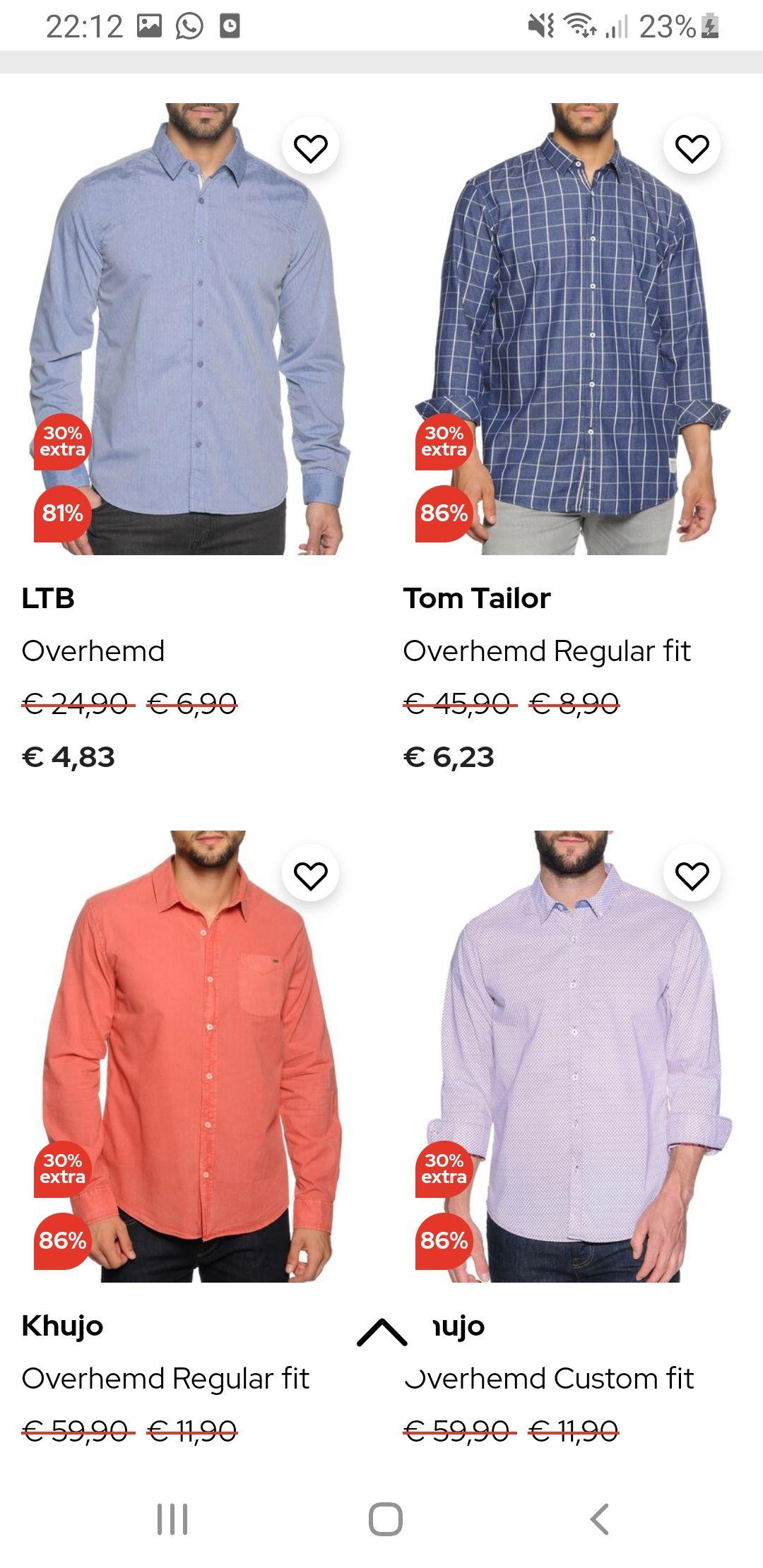 Diverse merkkleding nu met 30 % extra korting bovenop de aanbieding + gratis verzending + 10 % aanmelding nieuwsbrief + 6 procent cashback