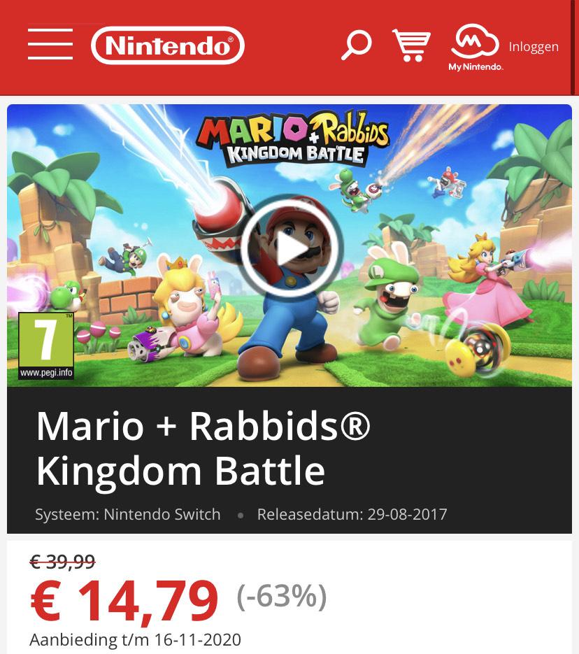 Nintendo Switch Mario + Rabbids® Kingdom Battle (digitaal)