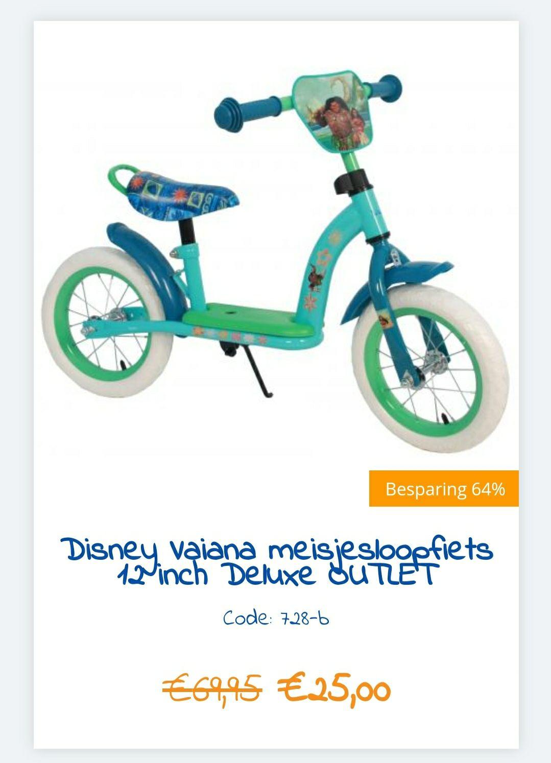 Outlet volare Kinder (loop)fietsjes 41 tot 64 % korting