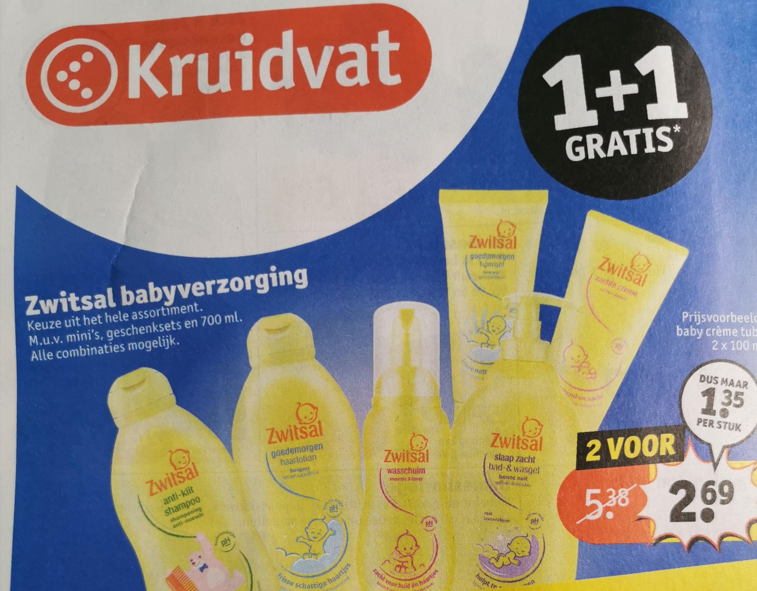 Alle Zwitsal 1 + 1 gratis bij Kruidvat