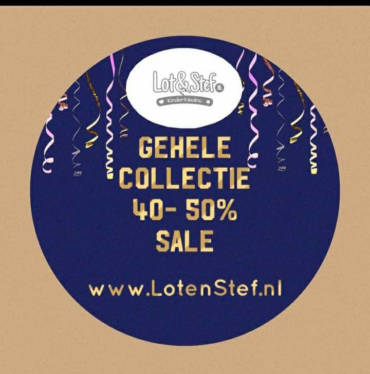 Bij Lotenstef.nl 40 tot 50 % korting op (nieuwe collectie) kinderkleding