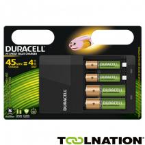 Duracell Hi-Speed Batterijlader, inclusief 2 AA en 2 AAA batterijen @Toolnation