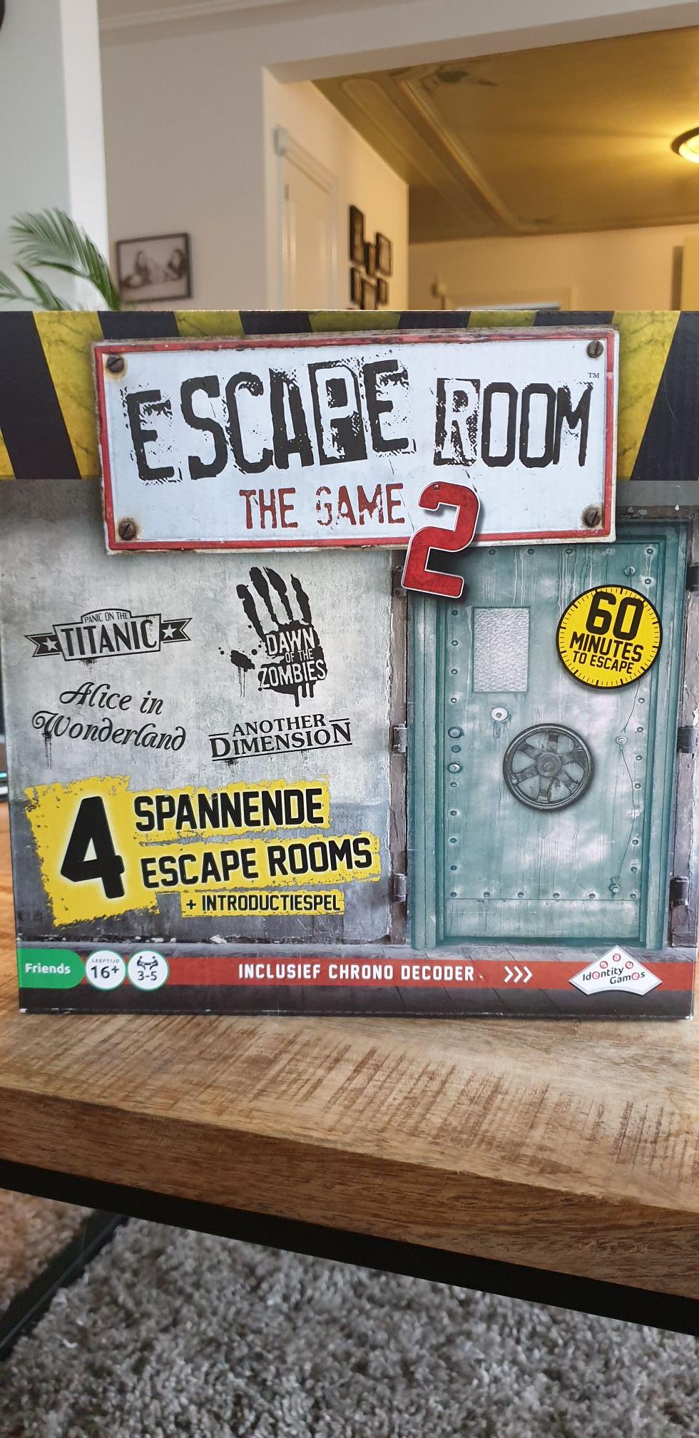 Escape Room The Game 2 voor maar 20euro bij Kruidvat