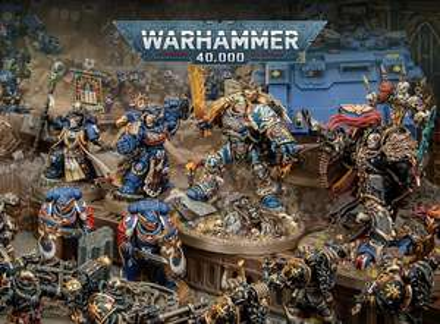 20% off warhammer 40k, 5 euro korting eerste bestelling, en na €50 weer €5 voucher