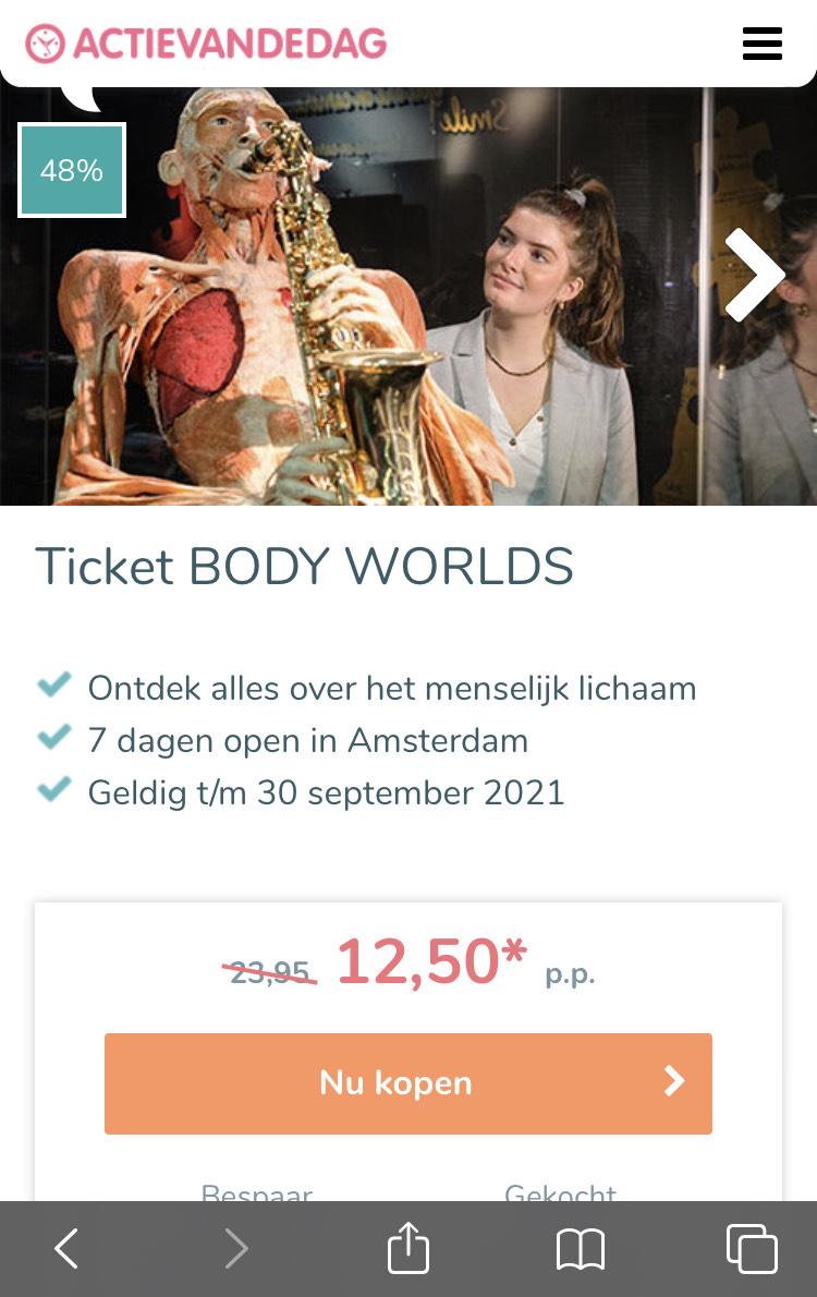 Ticket BODY WORLDS
