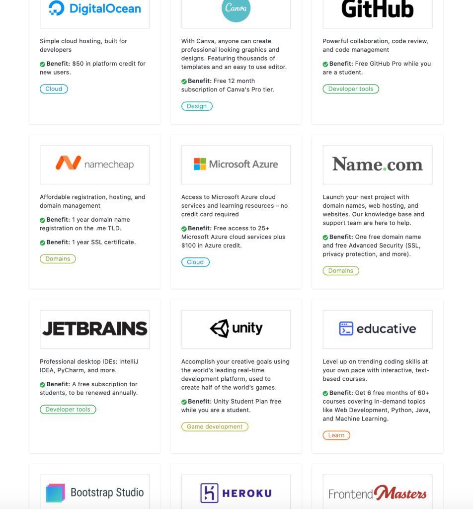 Gratis 100+ software programma's en diensten voor studenten