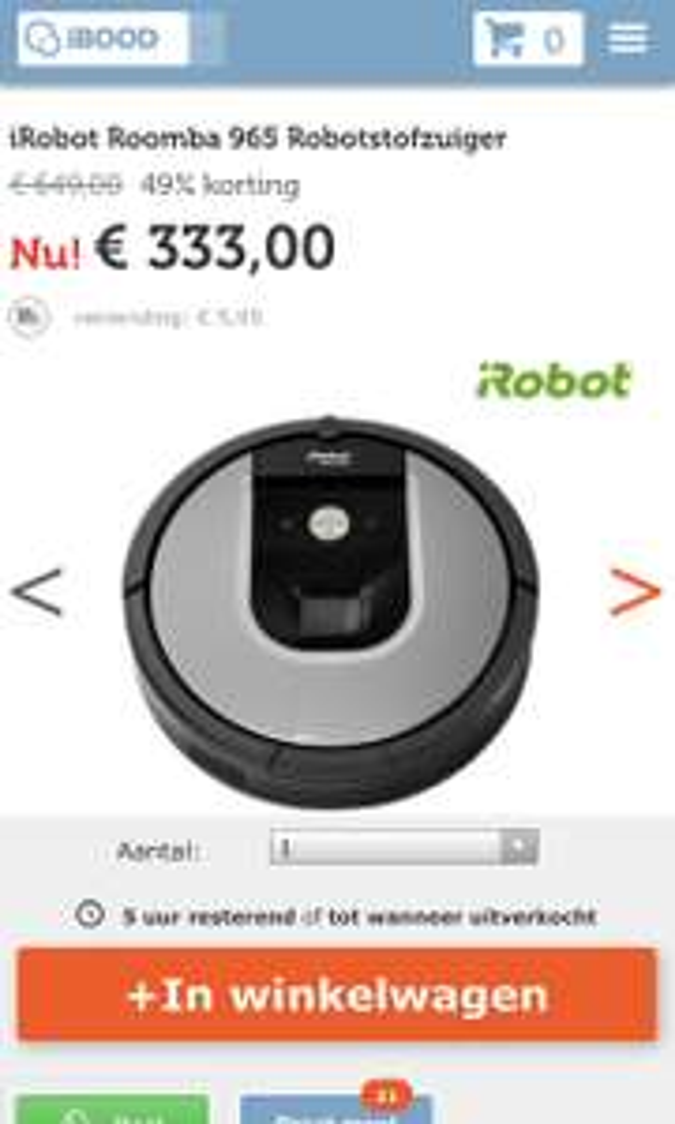 iRobot Roomba 965 Robotstofzuiger
