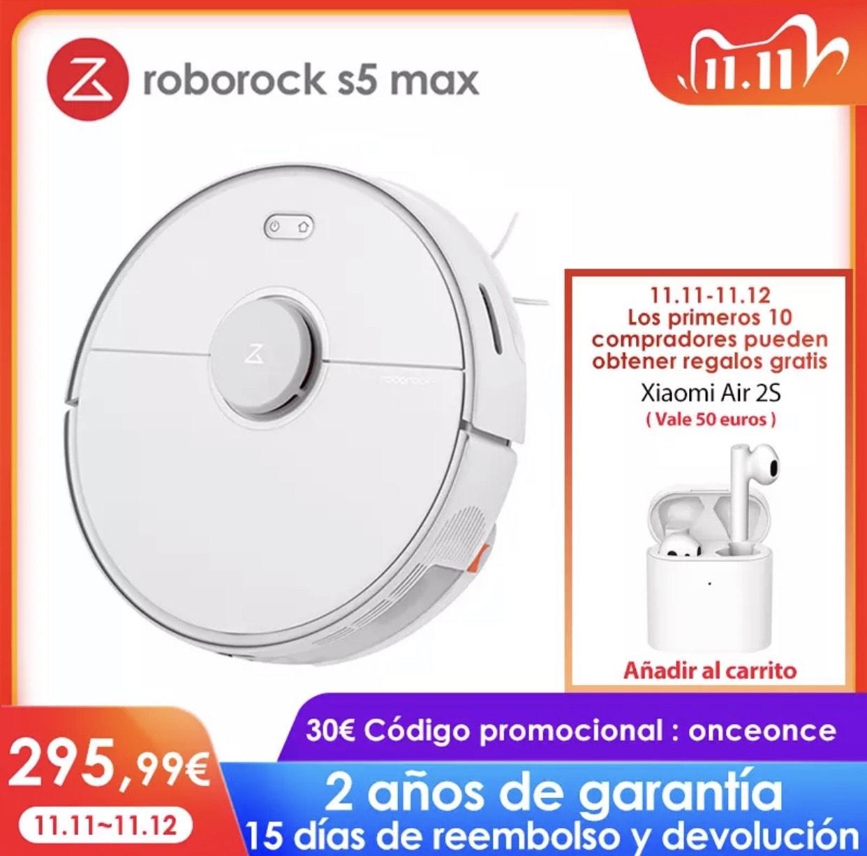 Roborock S5 Max (Verzending vanuit Spanje) @Aliexpress 11.11