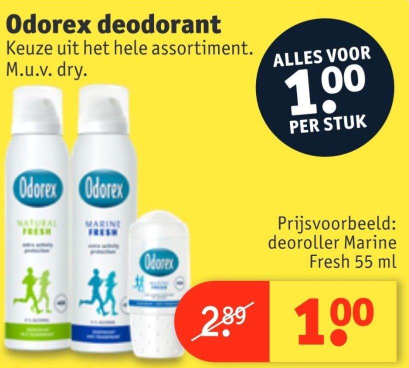 Alle Odorex €1 @kruidvat