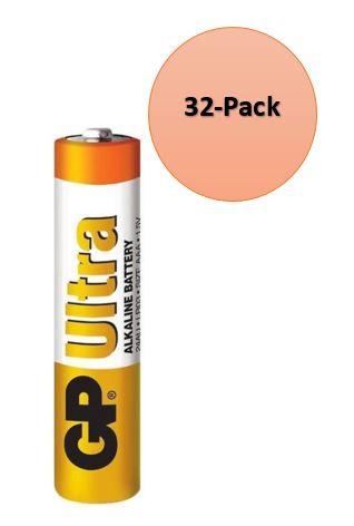 32-Pack gp batteries ultra alkaline 24AU AAA single-use batterij 1,5V