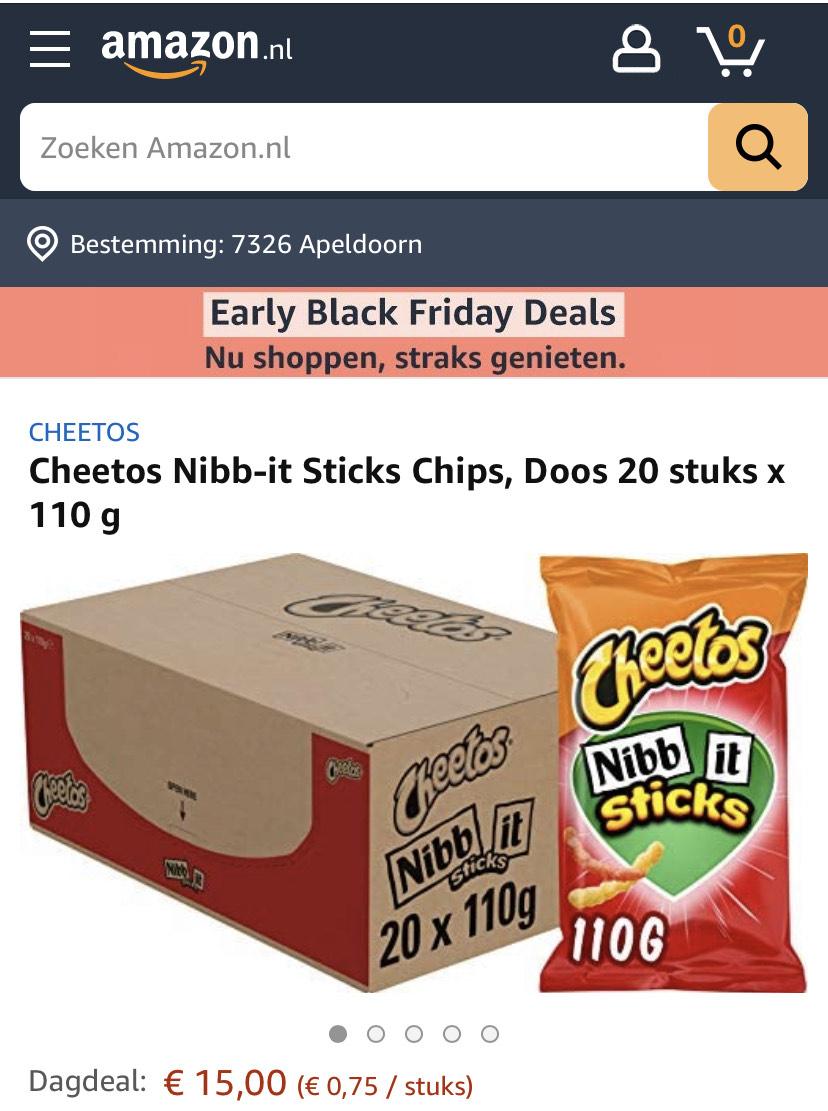 Cheetos Nibb-it 110gram 20 zakken!