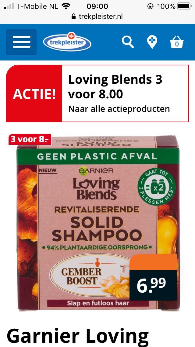 Loving blends solid shampoo 3 voor €8