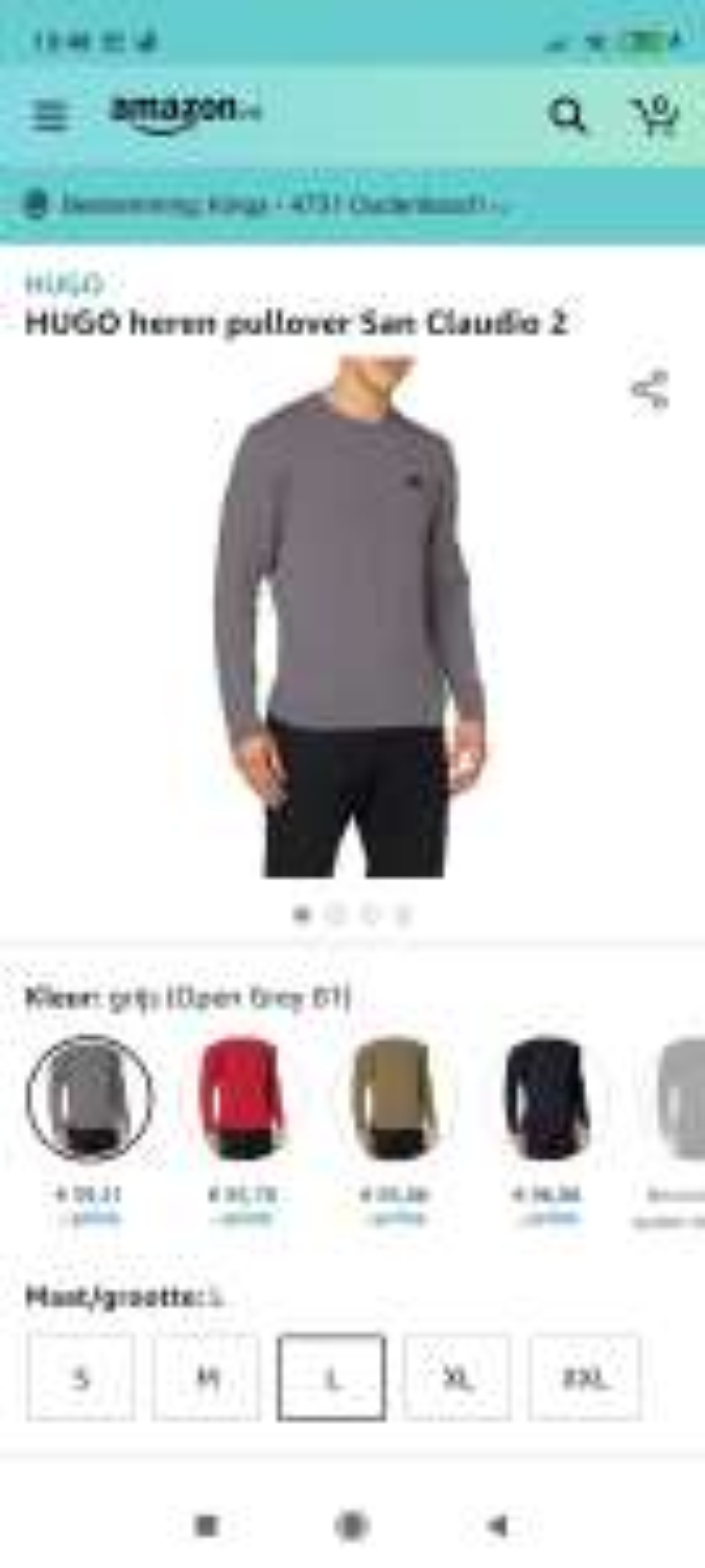 Amazon.nl HUGO heren pullover San Claudio 2