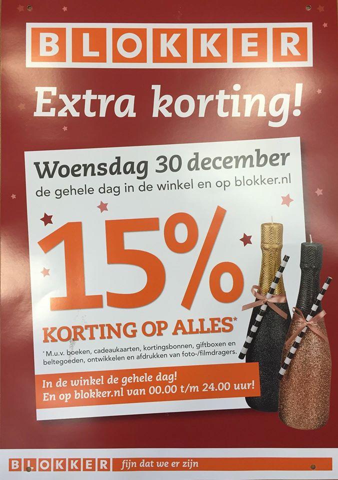 [REMINDER] Morgen (woensdag) 15% korting op bijna alles @ Blokker