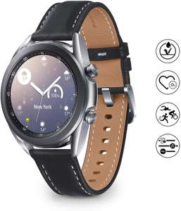 Samsung Galaxy Watch3, 45 mm, staal, leren armband, Mystic Silver - Amazon.nl