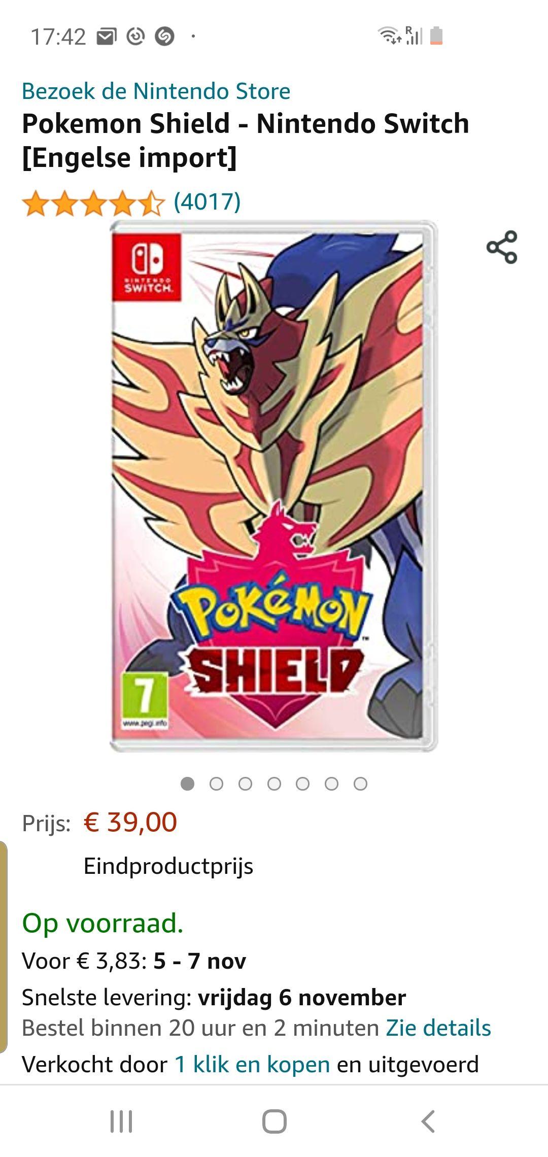 Pokemon shield amazon.es