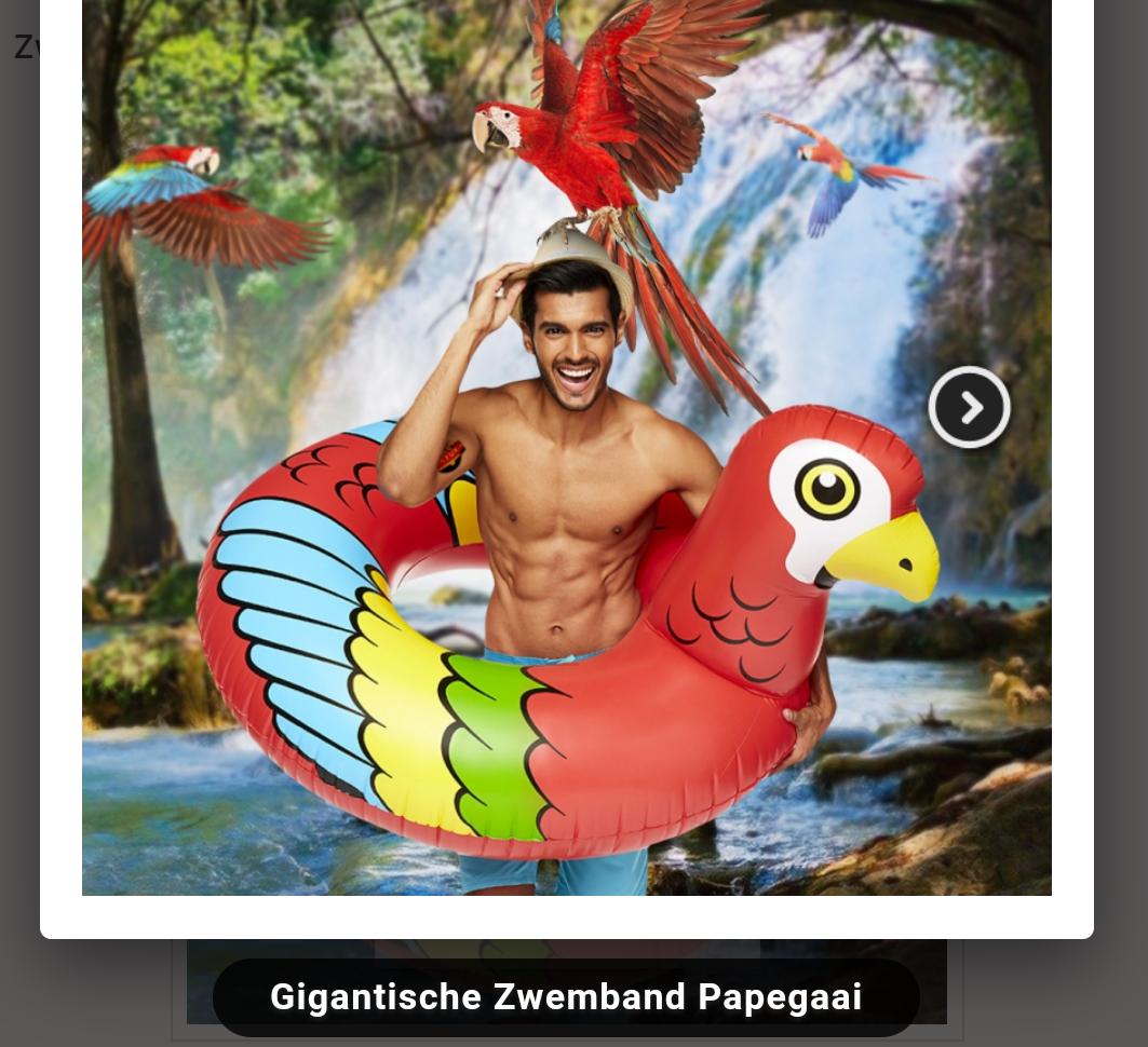 Gratis cadeau bij bestelling bij Avonturia (Zoals Gigantische Zwemband Papegaai bij besteding van €125)