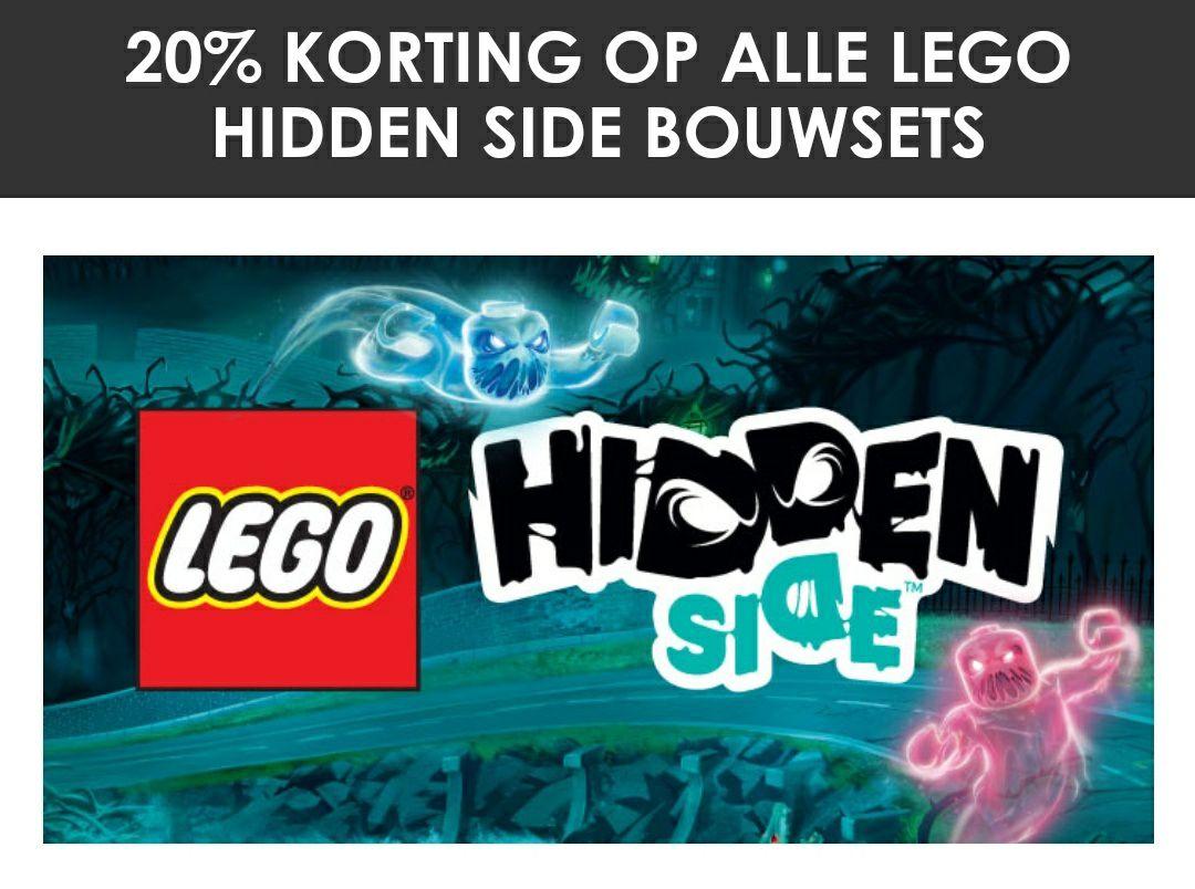 20% korting op Lego hidden side.