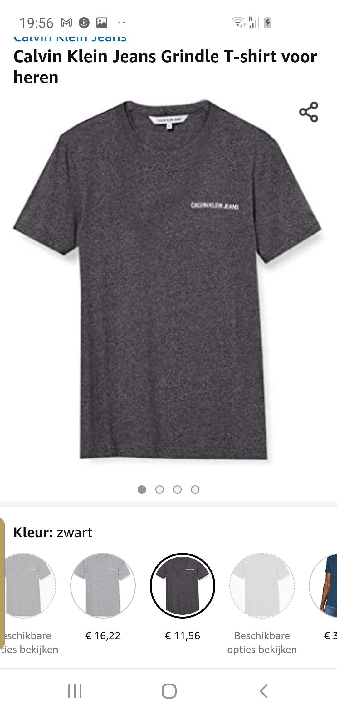 Calvin klein jeans t shirt 11.54 maat s xl xxl