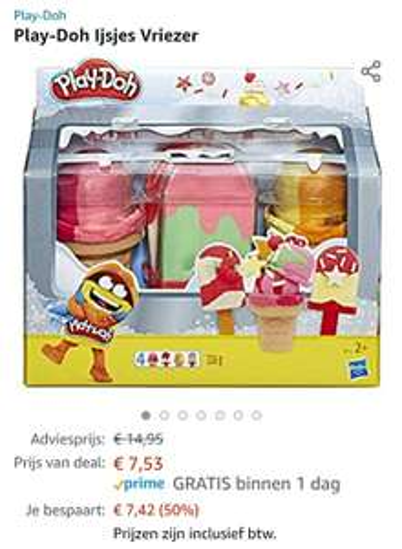 Play-Doh Ijsjes Vriezer- klei speelset