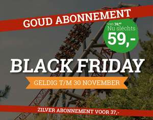 [Black friday] Slagharen Goud abonnement €59, Zilver €37
