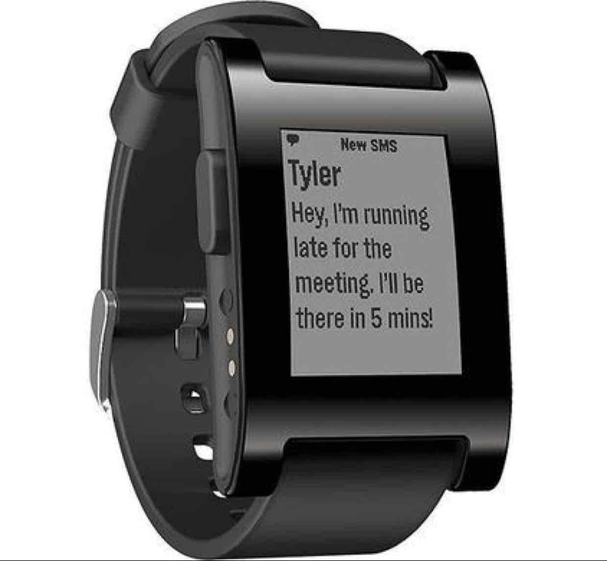 Pebble classic smartwatch wit of zwart