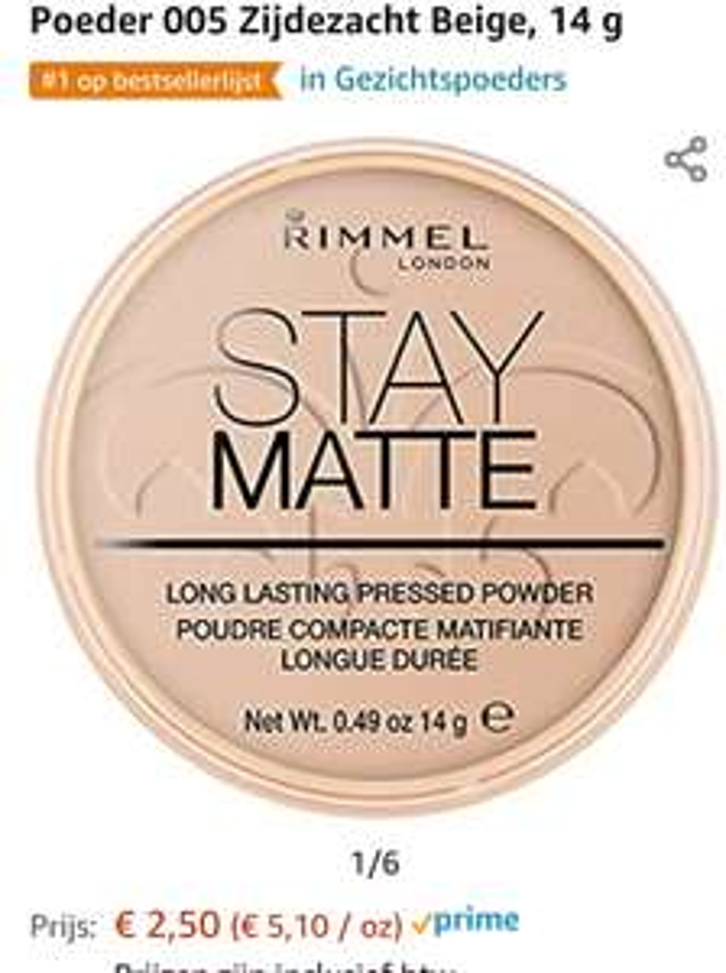 Rimmel London stay matte powder nummer 5