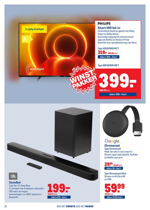 Makro: 58 inch Philips UHD TV 58PUS7805