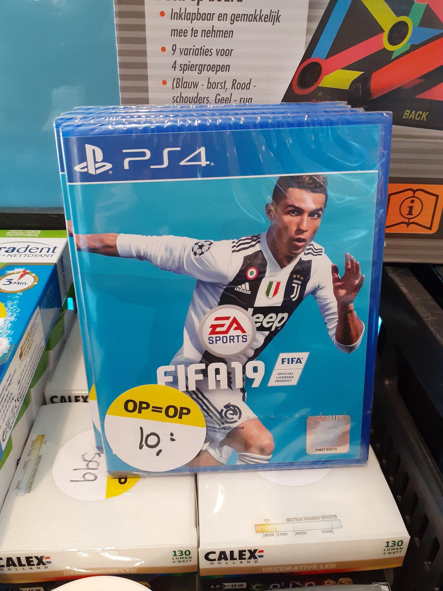 (lokaal?) FIFA 2019 voor PS4 @ AH Hurdegaryp