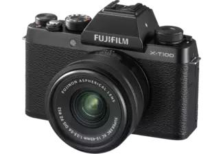 FUJIFILM X-T100 Zwart + XC 15-45mm f/3.5-5.6 / voor €349,77 bij Mediamarkt