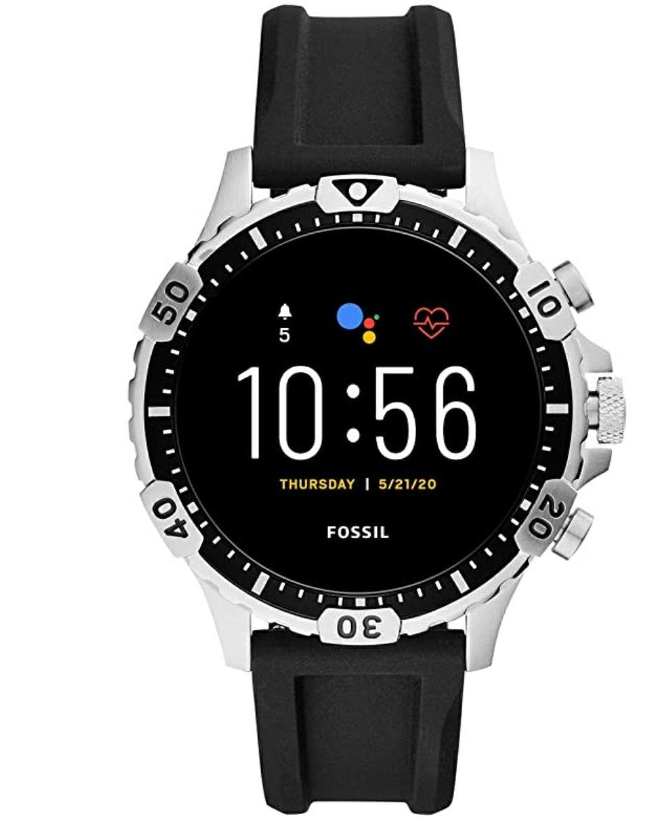 Fossil Garrett HR Smartwatch Gen 5 met touchscreen, hartslagmeter, GPS, NFC