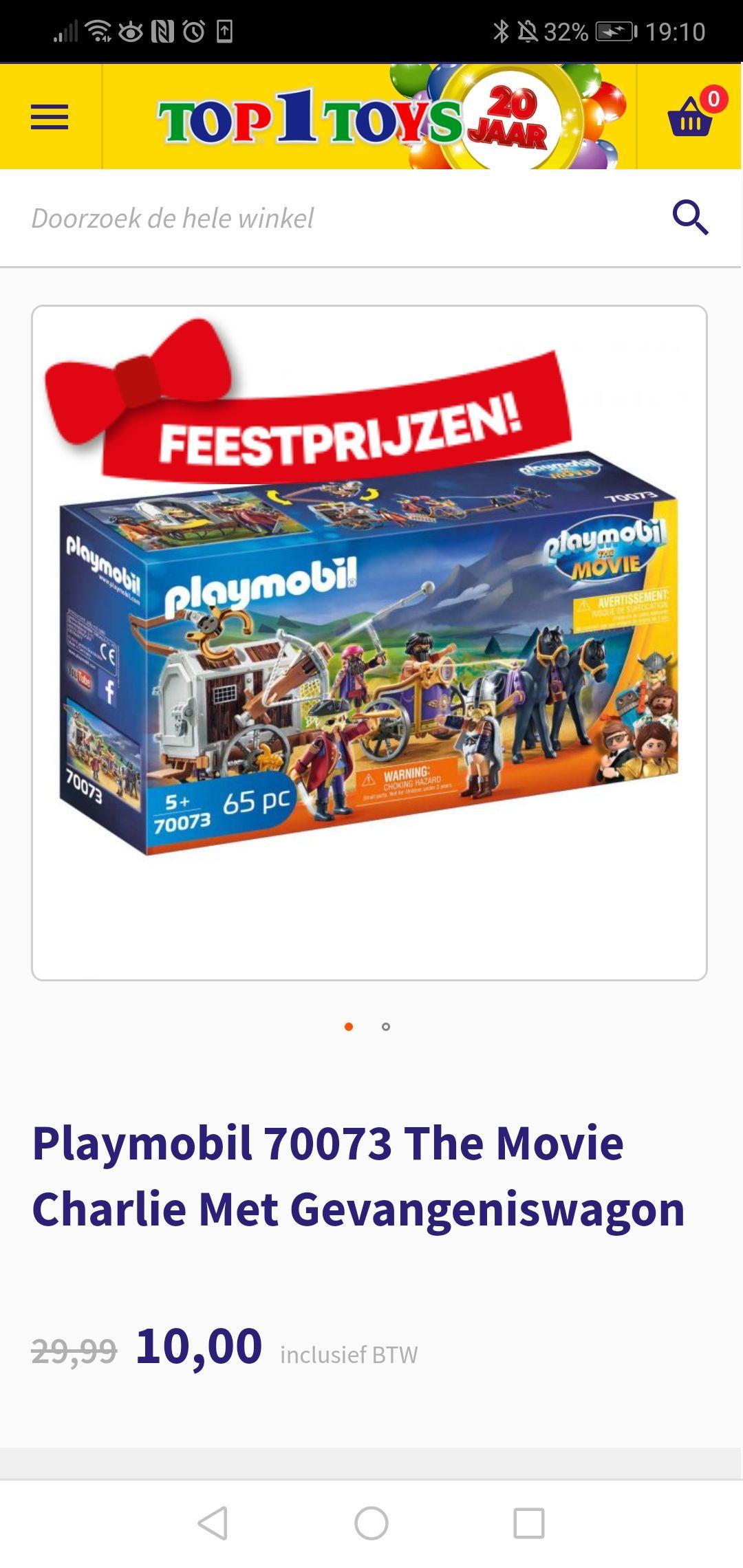 Playmobil 70073 The movie Charlie met Gevangeniswagon