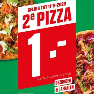 New York Pizza Enschede - 2e Pizza €1